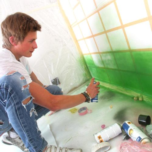 spraymålar grönt grafitti