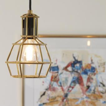 guldlampa industri trendig bygglampa