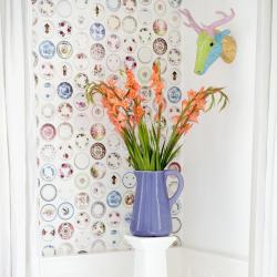 panel tapet tallrikar gladiolus ren
