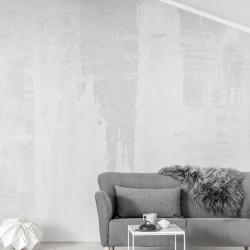 tapet vit grå soffa vardagsrum