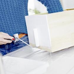 rolla vit färg låda