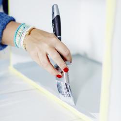 måla inuti låda maskeringstejp