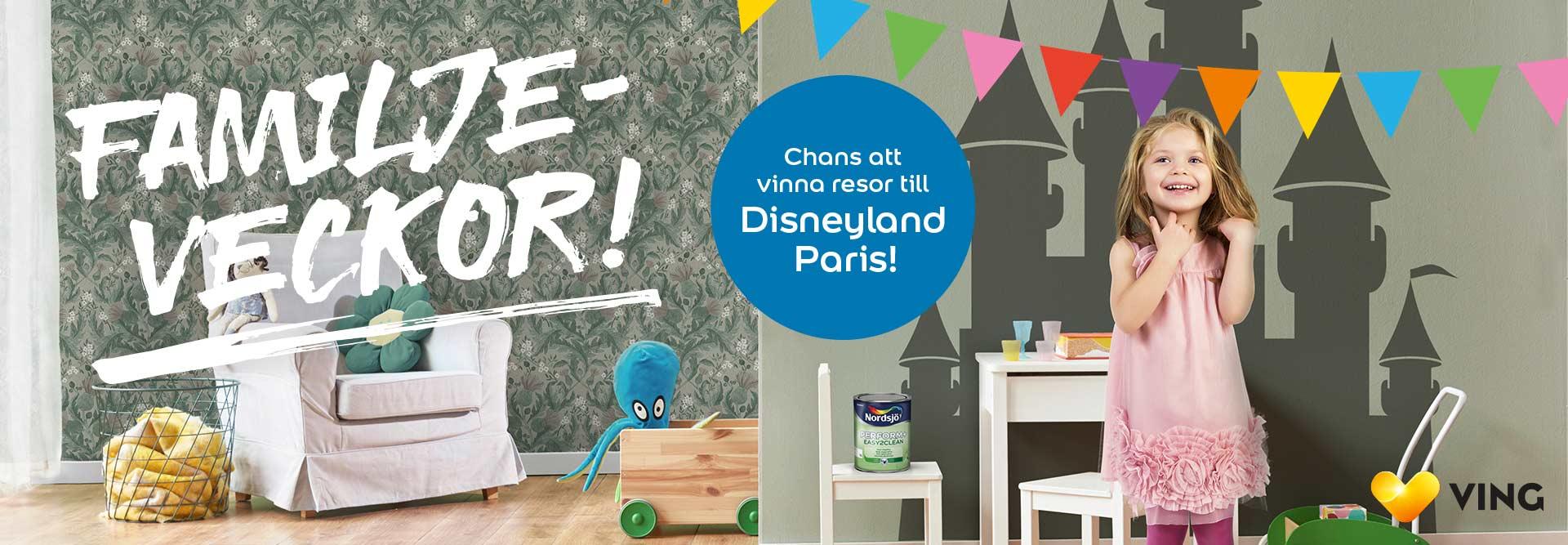 Vinn resor till Disneyland Paris